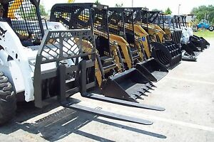 Cat case Pallet Forks By Bradco Fits All Skid Steers Made Today 4000 Lb 48 Long