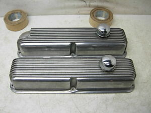 Ford Mercury Bb 390 427 428 Fe Cal Custom Aluminum Valve Covers W Oil Caps