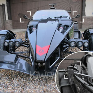 Magazi Cleaver Rear Side View Mirrors Black Pair Wide Angle For Ariel Atom