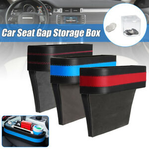 Leather Car Seat Catcher Crevice Gap Storage Box Pocket Organizer Phone Holder
