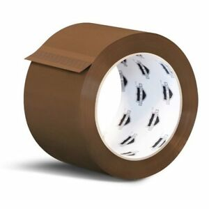 48 Rolls 3 inch X 110 Yards Tan Color Packing Tapes 2 Mil Shipping Tape 2