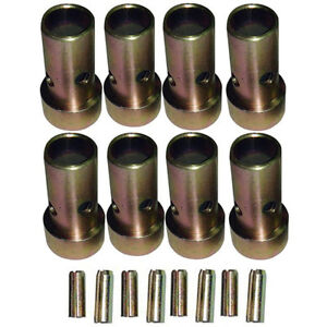 4 Pair Of Category Ii Quick Hitch Bushings Roll Pins Cat 2 Tractor Bushing Set