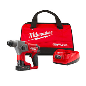 Milwaukee 2416 21xc M12 Fuel 12v 5 8 inch 4 0ah Sds plus Rotary Hammer Kit