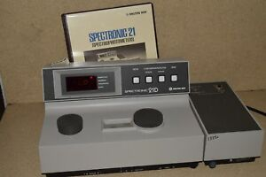 Milton Roy Spectronic 21d Spectrophotometer W Operator Manual