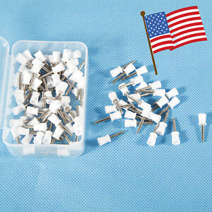 Dental Polishing Polisher Prophy Angle Cups Latch Type Tooth Brush Cup White Usa