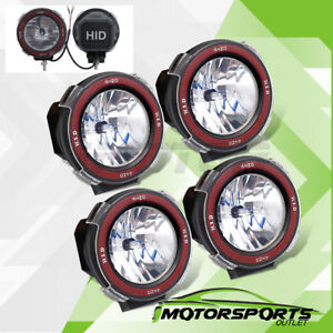 4pcs Unviersal Mount On 4 6000k Xenon Hid 4x4 Off Road Lights Fog Driving Lamps
