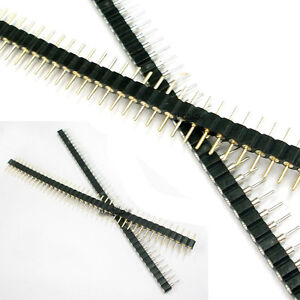 50pair Male Female Black 40 Pcb Single Row Round Pin 2 54mm Pitch Spacing Header