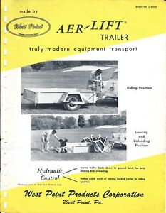 Equipment Brochure West Point Aer lift Trailer For Lawn Garden Use e4350