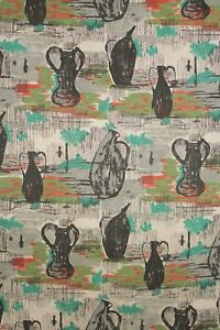 Vintage Mid Century Modern Design Fabric Material 1950 S French Upholstery