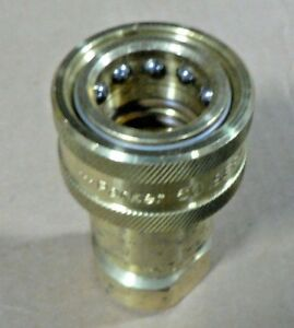 Parker Bh4 60y Valved Hydraulic Quick Coupler 1 2 Npt Female Brass