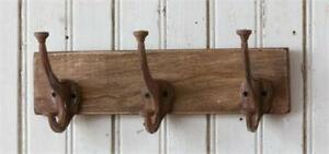 Country New Distressed Wood Farm House Wall Hooks