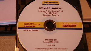 2016 New Holland Boomer 41 47 Tier 4b Tractor Service Manual On Cd Cd15