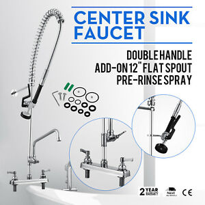 8 center W 12 add on Faucet Wall Mounted Restaurant Dishwasher Swivel High Grade