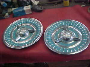 2 Nice 1958 58 Olds Fiesta Spinner Wheel Cover Hubcap Flipper 88 98 J2 Starfire