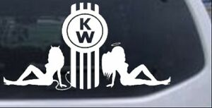 Kenworth With Sexy Mudflap Good And Bad Girls Car Truck Window Decal Sticker