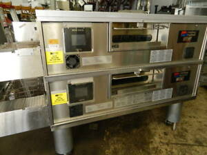 2010 Middleby Marshall Ps770 Wow Gas Fired Conveyor Pizza Ovens W Exhaust Hood