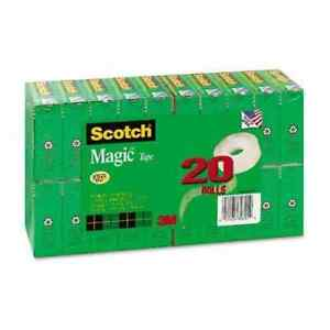 Scotch Magic Matte finished Clear Office Tape Value Pack