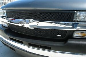 Fits Chevy Silverado Hd 2001 2002 Grillcraft Black Mesh Grille Inserts Upper