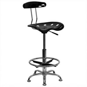 Shop Stool Drafting Chair Tractor Swivel Seat Bar Counter Adjustable Height New