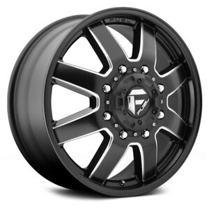 17x6 5 Maverick Front new D538 8x200 Et116 Black milled New Wheels set 4