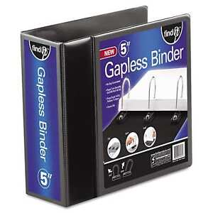 Find It Gapless Loop Ring View Binder 11 X 8 1 2 5 Inches Capacity Black