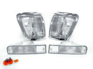 Combo Depo Clear Front Corner Bumper Signal Light For 1992 1995 Toyota 4runner