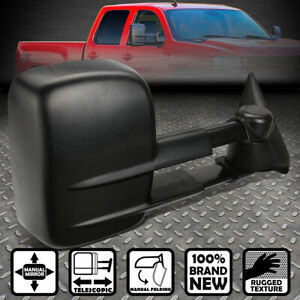 For 99 06 Silverado Sierra Right Manual Adjustment Telescoping Tow Towing Mirror