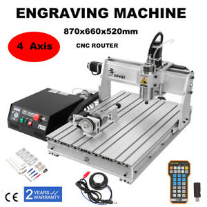 6040 Router 4 Axis Engraver Machine Milling Carving Machine Spindle Remote