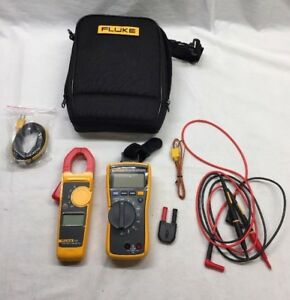 Fluke 116 323 Multimeter Clamp Meter Hvac Combo Kit In Case Mint Condition