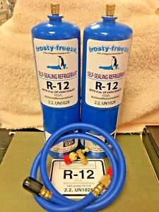 R12 Refrigerant R 12 2 28 Oz Cans With Leak Stop Proseal Xl4 1 To 5 Hp