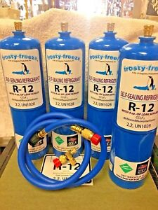 R12 Refrigerant R 12 4 28 Oz Cans With Leak Stop Proseal Xl4 1 To 5 Hp