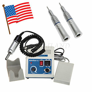 Usa Dental Marathon Electric Micro Motor With 2 Slow Straight Handpieces Nozzle
