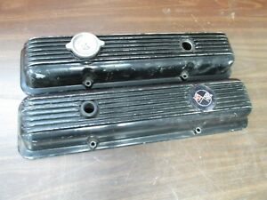 1969 77 Chevy Corvette 69 1970 Camaro Finned Valve Covers W Drippers Pair 418