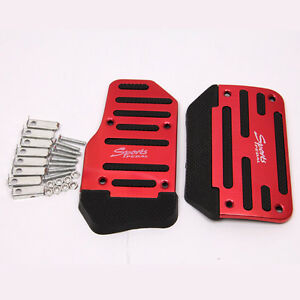 Universal Racing Sports Red Non Slip Automatic Car Gas Brake Pedals Pad Cover