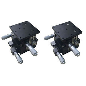 2 Pack 3 axis Xyz Trimming Platform Linear Stages Bearing Tuning Sliding Table