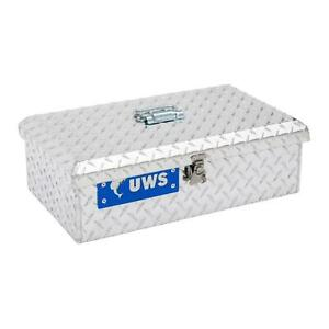 Uws Tb 1 Silver Lockable Aluminum Alloy Transportable Truck Bed Tote Tool Box