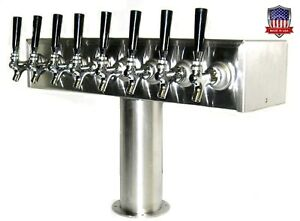 Stainless Steel Draft Beer Tower Made In Usa 8 Faucets Glycol Ready Ttb 8ssg