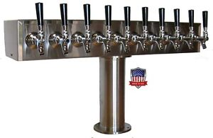 Stainless Steel Draft Beer Tower Made In Usa 10 Faucets Air Cooled Ttb 10ss