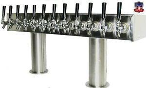 Stainless Steel Draft Beer Tower Made In Usa 12 Faucets Air Cooled Ptb 12ss