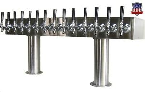 Stainless Steel Draft Beer Tower Made In Usa 14 Faucets Air Cooled Ptb 14ss
