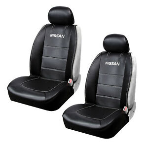 Nissan Logo Premium Synthetic Leather Sideless Car Truck Front Seat Covers Set