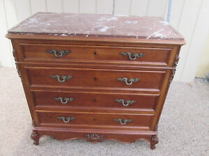57779 French Marble Top Dresser Chest