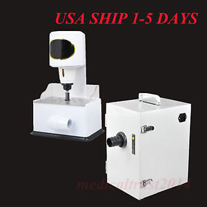 Dental Digital Single row Vacuum Dust Collector Grind Inner Trimming Trimmer