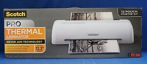 3m Scotch Pro 12 Thermal Laminator Tl1306 W 12 Starter Pouches Laminating New