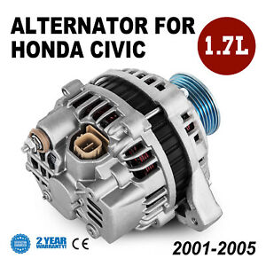 New Alternator For Honda Civic 1 7 Dx Lx Ex Vp D17 2001 2002 2003 2004 2005