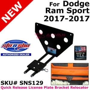 Sto N Sho Sns129 For 17 17 Dodge Ram Sport Quick Release License Plate Bracket