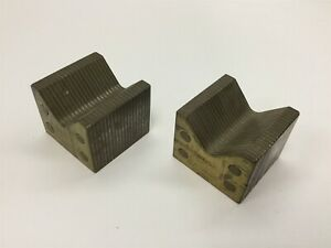 Lot Of 2 Magnetic V blocks For Electromagnetic Chuck Surface Grinder Mill