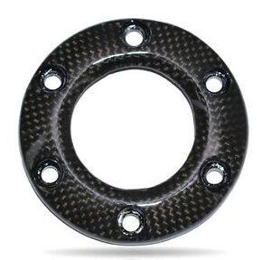Nrg Steering Wheel Horn Button Ring Carbon Fiber 6 Bolt Pattern Momo Sparco Omp