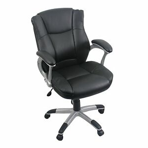 Cool Living Leather High Back Ergonomic Computer Desk Executive Office Chair