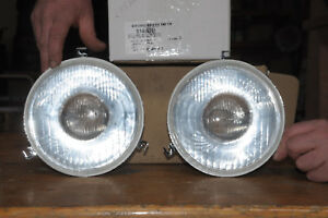 Lot 2 Optics Headlight Peugeot 203 403 404 Mounting Ducellier 21530030